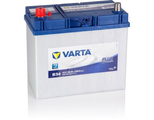 VARTA 45 Ah Starterbatterie B34 BLUE DYNAMIC 12V 45Ah bis zu 110/% Leistung NEU