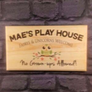 Gran-area-de-juego-personalizado-placa-cartel-Fairys-amp-unicornios-no-Grown-Ups