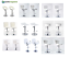 Sgabello-Bianco-Bar-girevole-moderno-sedia-regolabile-cucina-kit-2-pz-offerta miniatuur 1
