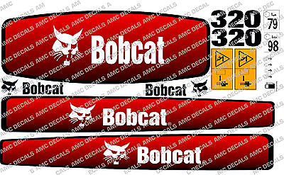 BOBCAT E17 MINI DIGGER EXCAVATOR DECAL STICKER SET
