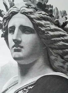 GERMANIA-Statue-Monument-Niederwalddenkmal-Germany-VICTORIAN-Era-Print