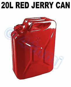 20 lt Gerry Jerry Can Army Metal Fuel Petrol Diesel RED