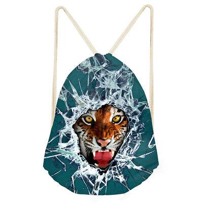Schol Backpack Tiger Designs Drawstring Bags Unisex Straw string Bags Sport Bag