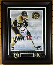 Patrice Bergeron Boston Bruins Signed Autographed EA NHL 15 Cover Framed 16x20