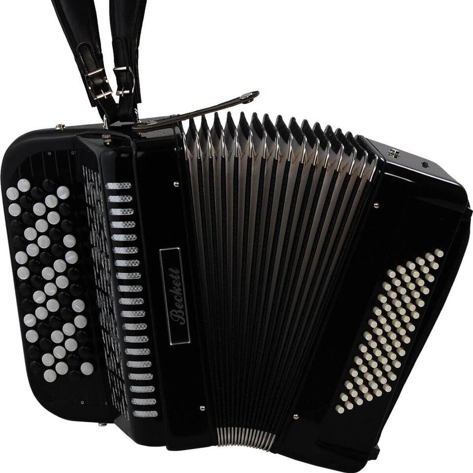 Andet, Beckett JH5072 knap-harmonika sort
