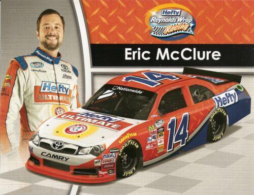 "2014 ERIC McCLURE /"" HEFTY ULTIMATE/"" #14 NASCAR NATIONWIDE SERIES POSTCARD"