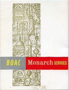 Older Menu-BOAC-British Overseas Airways Corporation-Nice Condition