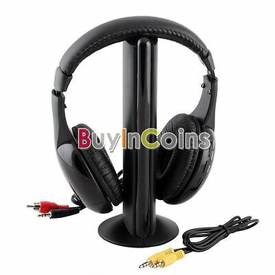 Wireless online chat Wireless Earphone Headphone 5 in 1 for MP3 TV CD PC RS