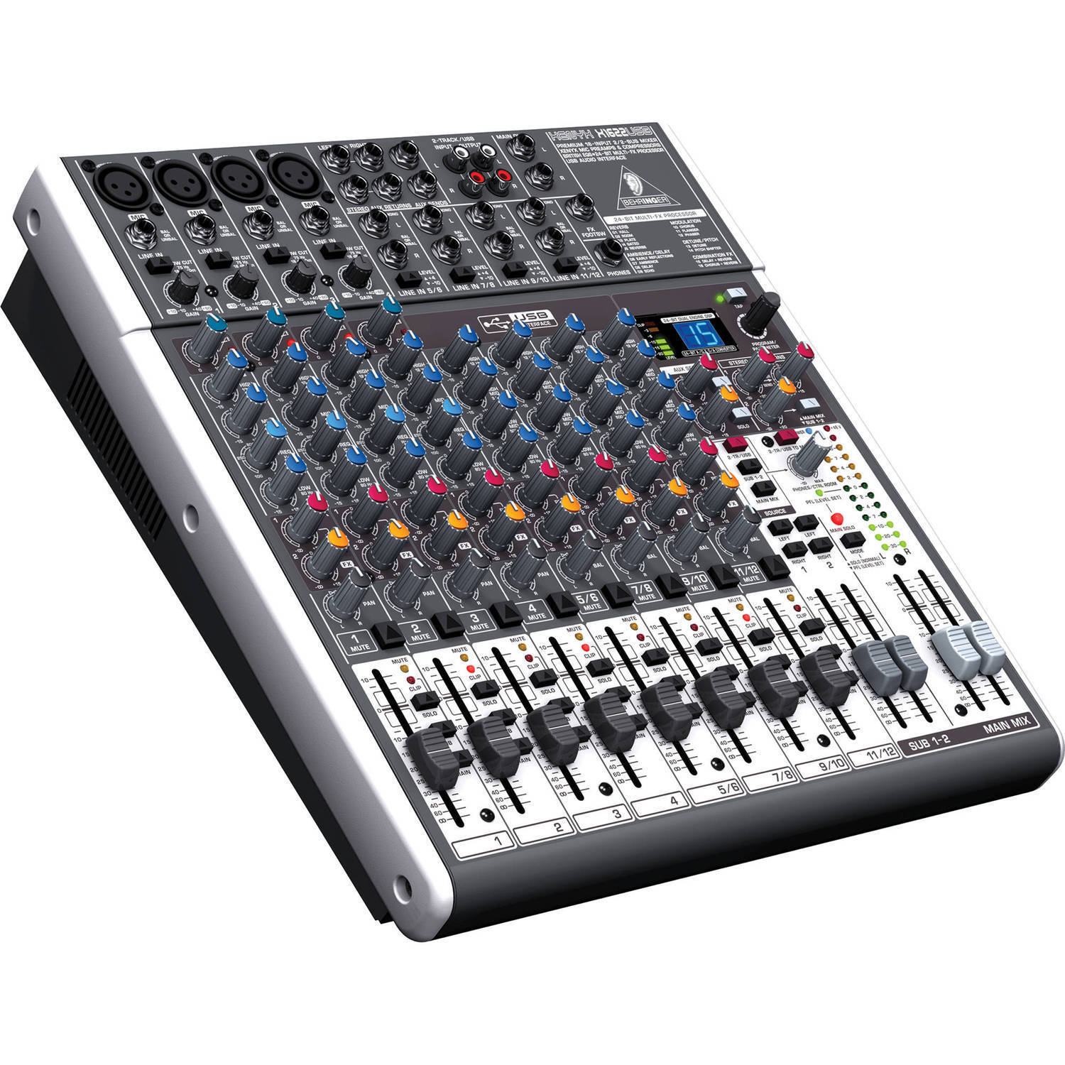 Behringer XENYX X1622USB 16-Input Live Sound Mixer Board w/ USB & FX EQ . Buy it now for 297.00