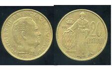 MONACO  20 centimes 1962      ( etat )