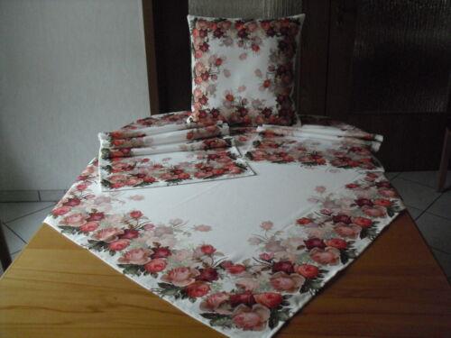 Mitteldecke Kissenhülle Tischdecke,Tischläufer Rosen Fotodruck 1003