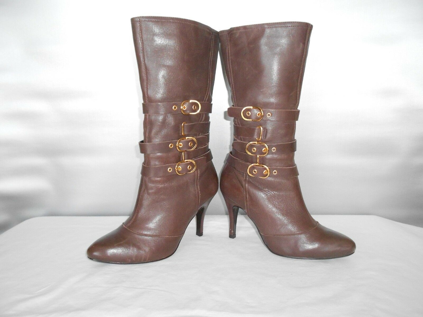 739404a3771 Women's Bakers Kelsey Brown Leather Fashion Mid Calf Boots Size 7.5 ...