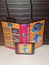 Sonic The Hedgehog - Next Level Game for Sega Genesis! Cart & Box!