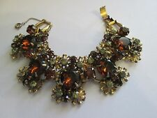 Vintage Bracelet  amber  stones  Juliana unsigned