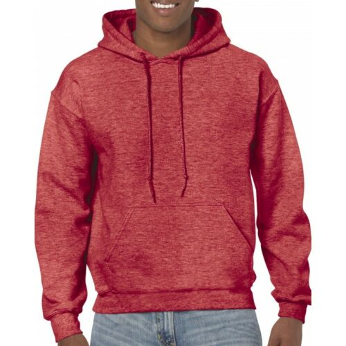 Heaher Sport Scarlet Red Gildan Plain Hooded Heavy Blend Pullover mens hoodie
