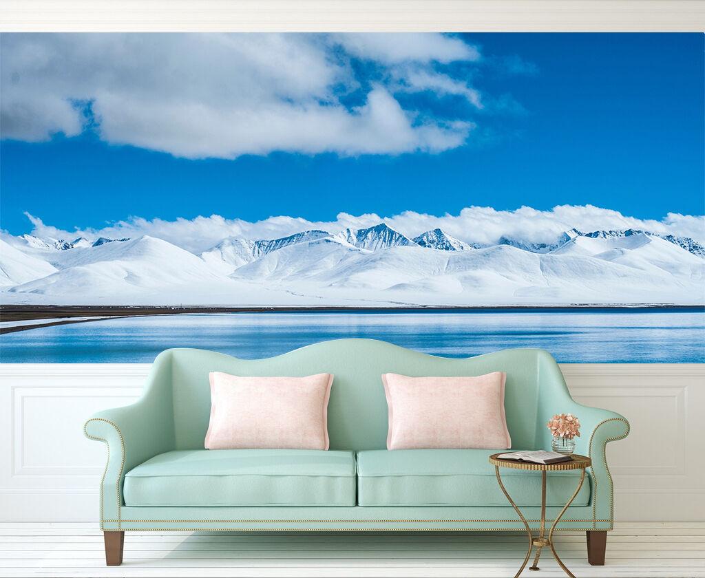 3D Pretty Weiß Snow Mountain 2 Wall Paper Wall Print Decal Wall AJ WALLPAPER CA