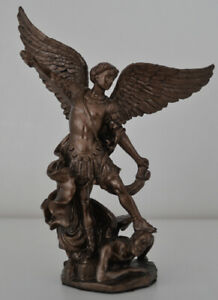 St-Michael-the-Archangel-Cold-Cast-Bronze-Standing-on-the-Demon-039-s-Head-4-034