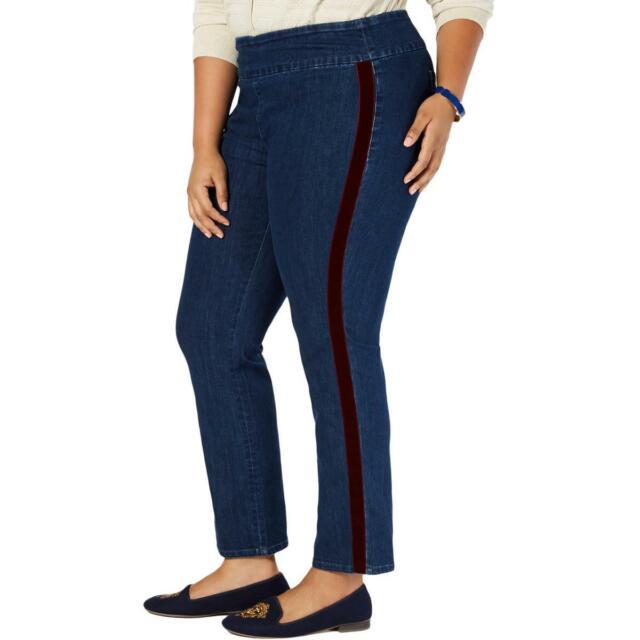 Charter Club Womens Cambridge  Tummy Control High-Rise Jeans Plus BHFO 3624