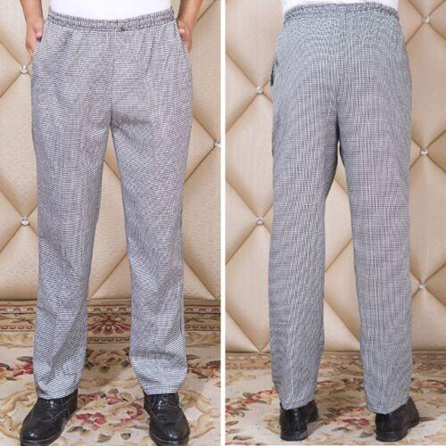 CHEF TROUSERS Stripe Kitchen Catering Cook Pants Uniform Unisex M-4XL