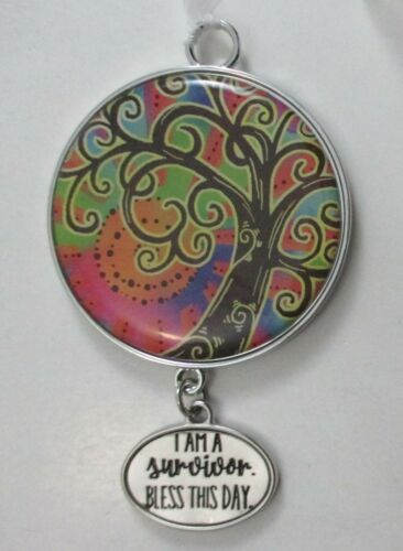 R 1x Tree of Life HANGING ORNAMENT sign Ganz inspirational hope faith family