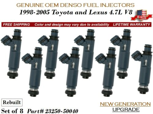 8 Fuel Injectors NEW GENERATION OEM DENSO for 1998-2005 Toyota and Lexus 4.7L V8