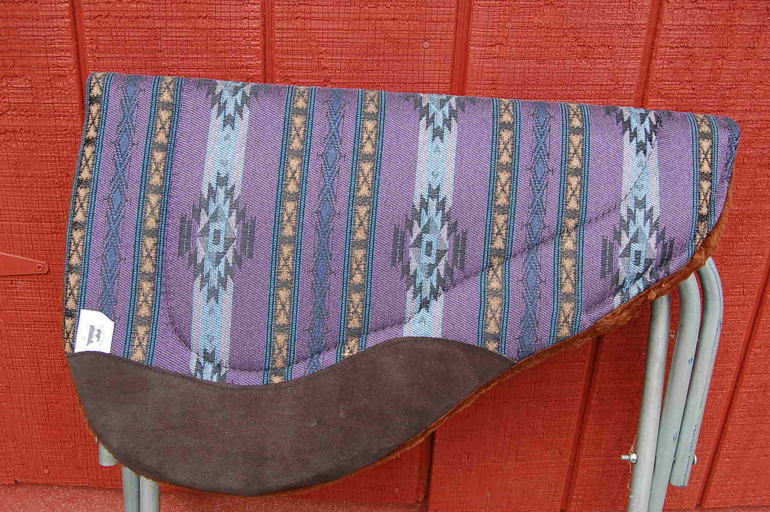 RIDERS  CHOICE SADDLE PAD PURPLE AZTEC BARREL FREE SHIP NEW MADE IN ALABAMA USA  world famous sale online