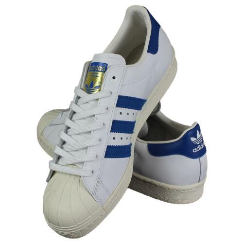 Adidas 1 Blu Scarpe Da Forti Taglie Anni '80 49 Ginnastica Superstar Bianco 1BAr1x4