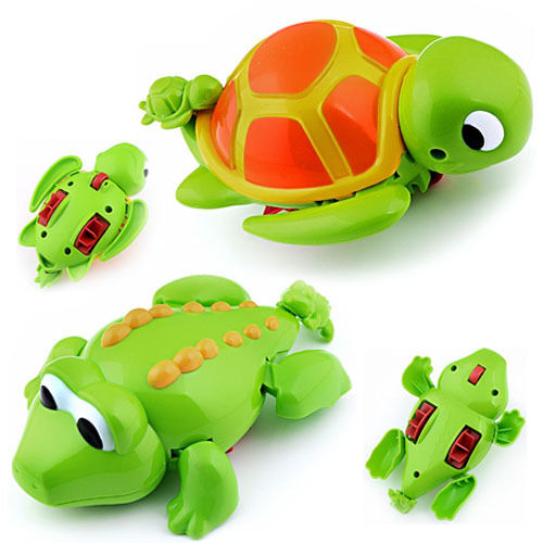 Swimming Turtle & Crocodile Animal Pool Toys for Baby Children Kids Bath Time