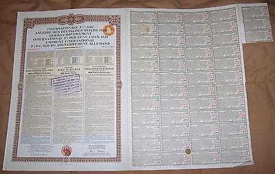 Germany External Loan 1930 Bond Holland Dutch issue 100 florins Young coupons
