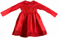 JACADI Girl's Relayer Laqured Red Long Sleeved Dress Age: 4 NWT $164