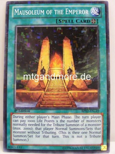 Mosaic Rare War of the Giants Yu-Gi-Oh BP02 1x Mausoleum of the Emperor