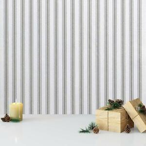 Gray Stripes Self Adhesive Decor Peel And Stick Wallpaper Contact Paper Vinyl Ebay