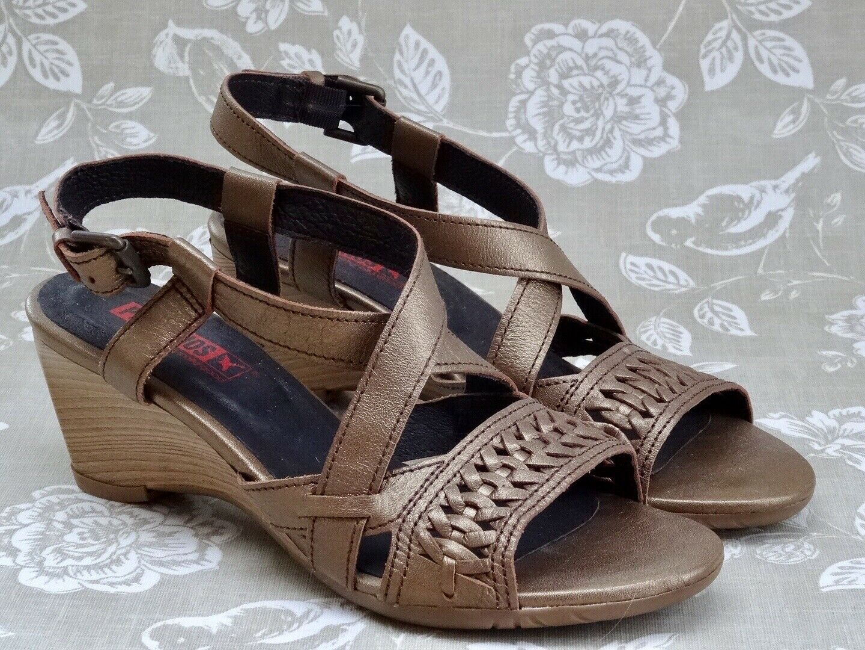 ☀️PIKOLINOS☀️Size 4 37 gold Strappy Heeled Sandal shoes - P&P Inc