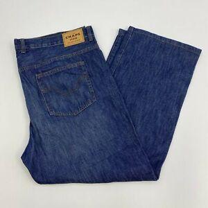 Chaps-Denim-Jeans-Mens-42X30-Blue-Straight-Leg-Cotton-Medium-Wash-5-Pockets