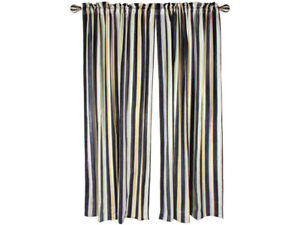 Mackenzie-Childs-COURTLY-STRIPE-Linen-CURTAIN-Drapery-Lined-PANEL-Qty-1-m19-n