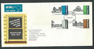 1979 New Zealand Fdc Architecture No Timbro Arrivo - V Vif Et Grand Dans Le Style