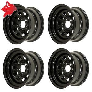 4x-cerchioni-acciaio-color-nero-non-EU-Jeep-Wrangler-YJ-1987-1995