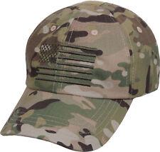 Tactical Cap Operator Hat Ballcap Multicam Camo USA Flag Rothco 4363