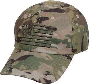 MultiCam Tactical Operator Cap with US Flag American Army Hat Camo ... d81e90f6676