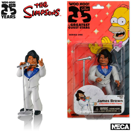 """5.1/"""" NECA The Simpsons Series 1 25th Anniversary James Brown Action Figures"""