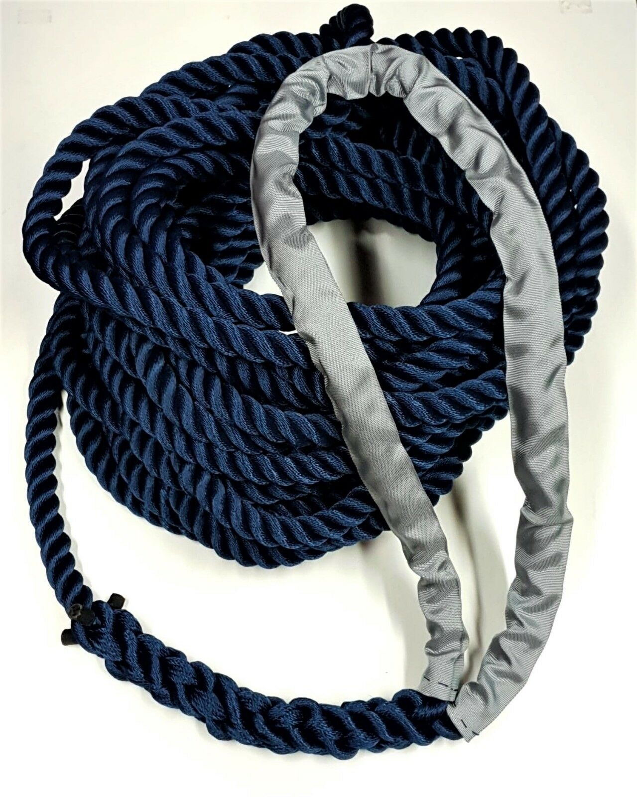 24mm 33mt 3Strand Floating Mooring Line Rope Soft Eye Spliced Ready To Use Navy