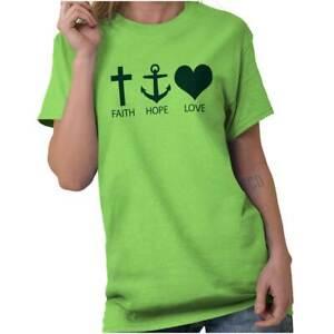 Faith-Hope-Love-Jesus-Christ-Christian-Religious-God-Gift-T-Shirt-Tee