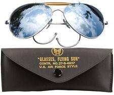 Classic Aviator Sunglasses, Vintage Pilot Mirror Lenses