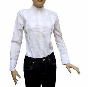 Slim-fit-Damen-Bluse-Gr-L-Weiss