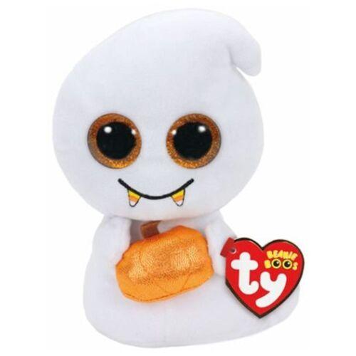 "Ty Beanie Boos Scream Halloween Ghost 6/"" Small Stuffed Glitter Eye New"