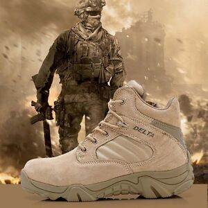 Men-039-s-Tactical-Military-Ankle-Boots-Outdoor-Combat-Desert-Hiking-Comfort-Shoes