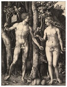 Albrecht Durer Adam and Eve paper or canvas reproduction