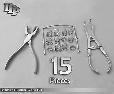 Starter Rubber Dam Kit Of 15 Dental Surgical Instruments