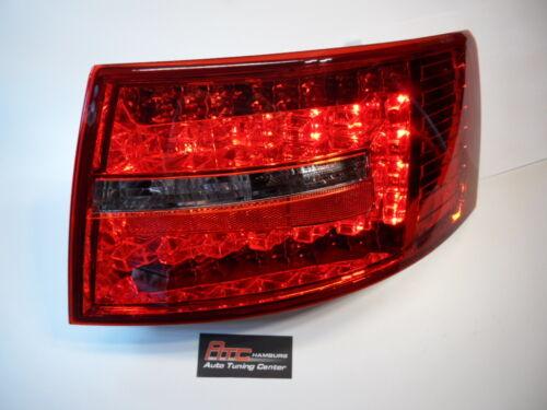 zug. Audi A6 4F Limousine LED Rückleuchten Rot//klar  7 Pin Bj.2004-2008 europaw