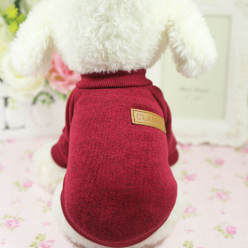 Dog Sweater Clothes Pet Puppy Soft fleece Hoodie Warm Coat for Schnauzer Poodle